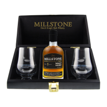 Millstone Single Malt 5 years  Giftset + glazen
